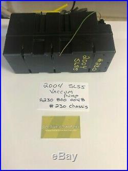 03-11 Mercedes R230 SL500 SL55 SL65 Door Locking Vacuum Pump 2308000048
