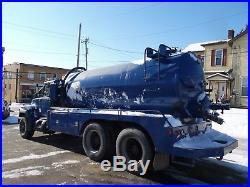 1994 Mack Rd690s Septic Tank Vacuum Pump Truck Tandem Water Bottle Super Clean