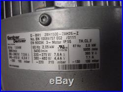 1 Elmo Gardner Denver G-BH1 2BH1500-7AH26-Z Side Channel Blower 2BH1500-7AH26