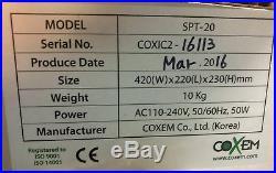 2016 Coxem SPT-20 Digital Sputter Ion Coater + vacuum pump 100mm chamber Au Pt