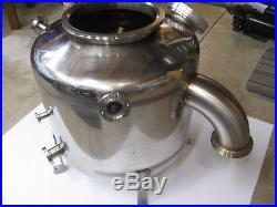 20 DIAMETER STAINLESS STEEL HIGH VACUUM CHAMBER With VIEWPORT, NO LEAKS