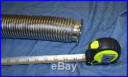 48 High Vacuum SS ISO KF50 Bellows Flexible Pipe Vacuum Corrugated Hose 1220mm