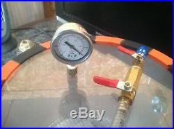 5 Gallon Vacuum Chamber and 3cfm Vacuum Pump + Extras