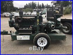 6 Pioneer Pump, Vacuum Assist, Duetz Diesel, Trailer