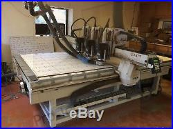 AXYZ 5x10 CNC Router with Vacuum Pump Three head machine (3) ELTE 5HP Spindles