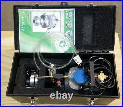 Aerotech Z-a6 Microbial Mold Air Sampler Vacuum Pump Reg & Flow Meter & Case