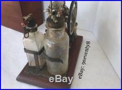 Antique Mortician Embalming Vacuum Pump C. M. Sorensen Co. Oddity Rare! AC & DC
