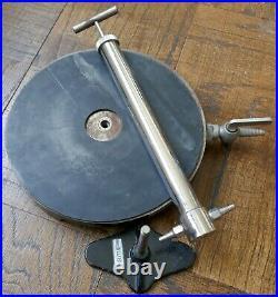 Antique Welch Scientific Laboratory Vacuum Pump & Cast Iron Bell Jar Base