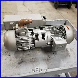BUSCH A0025-7005 Vacuum Pump, 20cfm, 1.1Kw Motor, 208/460Vac USED