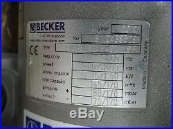 Becker SV 8.160/1-01 VSP Vacuum Pump Blower 2.01HP 3440RPM 3PH 3.7/6.4A