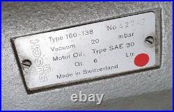 Busch RC 0160B Drehschieber Vakuum pumpe z. B. Vakuumtisch für CNC Fräse