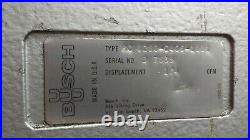 Busch Vacuum Pump RC0250-C406 174 CFM, Toshiba 10hp motor