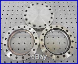 C152431 Lot 2 MDC Vacuum 6 CF Conflat Viewport (1) 6 Conflat Blank (3) Gaskets