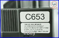 C653 Mercedes 94-99 W140 C140 S CL Dynamic Seats Central Locking Vacuum Pump
