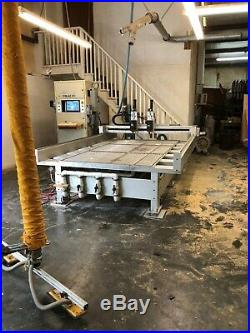 CNT Motion 900 with Dual 7.5 hp spindles CNC Router 20hp vacuum pump with extras