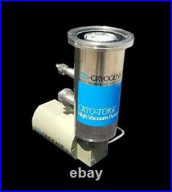 CTI-Cryogenics Cryo-Torr High Vacuum Cryopump with 8010 Controller