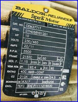 Camfil FARR 1608 Alum Pressure Blower 3500rpm 10HP 2000CFM 3 Phase