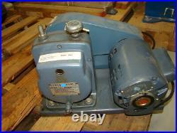 Cenco Hyvac 2 Vacuum Pump with GE Motor 5KC35KG198, 1/4 HP, 1725 RPM