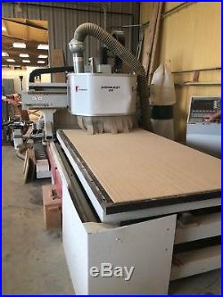 Conquest 250 cnc router, COSMEC 2001 With Becker vacuum pump