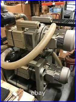 Cosmec CNC Router conquest 510 vacuum table vacuum pump tool changer