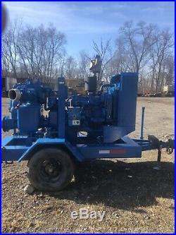 Diesel trash pump, Thompson 6 in John Deere vacuum prime, ceramic lined