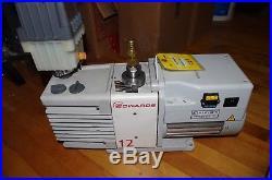 Edwards 12 Model RV12 Dual Stage Rotary Vane Laboratory Vacuum Pump, EMF20 incl