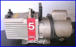 Edwards 5 E2M5 Rotary Vane Two Stage Vacuum Pump TESTED TO 5 micron 120v 6.9cfm