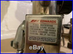 Edwards Diffstak 63mm Diffusion Pump System with Active Gauge Controller + Gauges