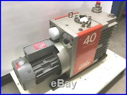 Edwards E2M40 Vacuum Pump Two Stage Rotary Vane withGE 3HP 208-230/460VAC 3Ø BOC