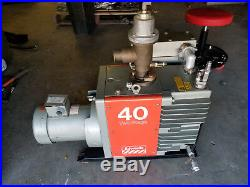 Edwards E2M40 Vacuum Pump Two Stage Rotary Vane with OUTLET MIST FILTER TEMESCAL