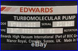 Edwards EXT 500 Turbomolecular Pump and EXC 500 Controller