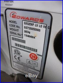 Edwards GXS 250 Dry Screw Vacuum Pump LV LD RE CA Mdl GXS250F 147 CFM on Wheels
