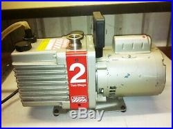 Edwards High Vacuum Dual Stage E2m2 Rotary Vane Pump Leeson 1/3hp 1725rpm