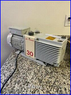 Edwards Model E2M-30 Single Phase Dual Stage High Vacuum Pump with 1-1/2 HP Motor