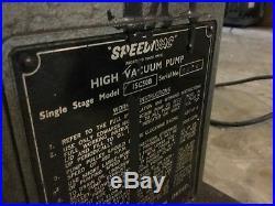 Edwards speedi vac vacuum pump 15c vintage neon tube shop glass tubing bending