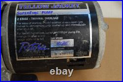 FREESHIPPING Yellow Jacket 93560 SUPER EVAC 6 CFM TWO stage Vacuum Pump