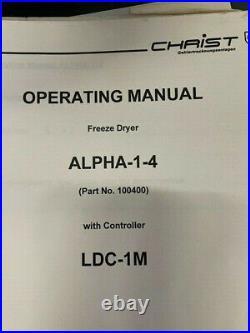 Freeze Dryer Martin Christ ALPHA-1-4 LDC-1M Vacuum pump