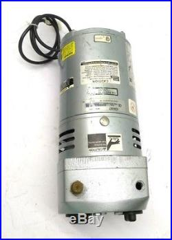 GAST 0523-540Q-G314DX Rotary Vane Vacuum Pump, 24in-Hg, 4.5CFM, 10PSI, 230VAC
