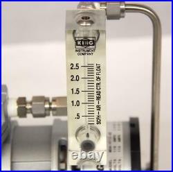 GAST MOA-V112-AE Diaphragm Pump with Gauge USED (8943)R