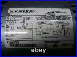 Gast 1023-101Q-G608NGX 3/4HP Vacuum Pump, 1023-101Q-SG608X