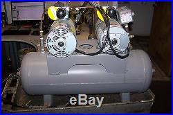 Gast 1/4 HP Dual Head Oil-less Piston Vacuum Pump Compressor 2hah-24-m200x