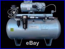 Gast 6HCA-11T-M616X Oil-Less Air Compressor, 30 Gallon Tank (3642)