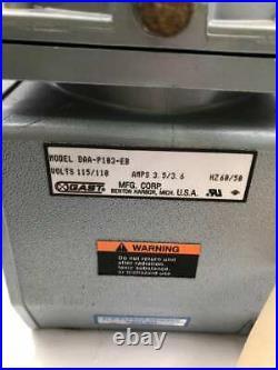 Gast DAA-P103-EB Two-Stage Oilless Diaphragm Vacuum Pump 115/110V