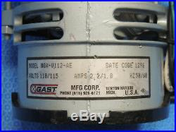 Gast MOA-V112-AE Compressor Vacuum Diaphragm Pump 1/16 HP 60 Hz 115V