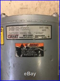 Gast Oil-Less Compressor Twin Cylinder 3HBB-32-M300X