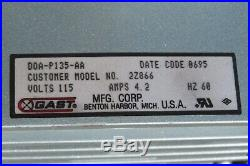 Gast Vacuum Pump DOA-P135-AA Model 2Z866 1/8 HP, Good working condition