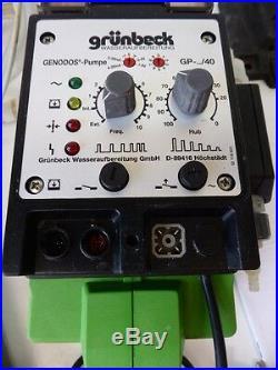Grünbeck Dosieranlage GENODOS Typ DM-T 6 GP-Pumpe 163140 Dosierpumpe Typ GP-1/4