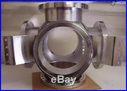 Huntington Vac 6-Way Cross Spherical Vac-U-Flange Fitting with 4 Nipple Adapters