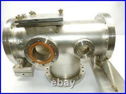 Huntington Vacuum UHV Chamber T-Bar Manifold Fitting Assy 3, 4.5, 8 Flanges
