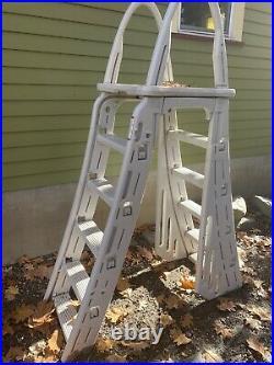 Intex 18X9ftX52in Rectangle Ultra/Prism Frame Pool Set, Sand pump, Ladder, Vacuum